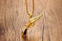 Модное мужское ожерелье золотистого цвета в стиле панк с подвесками