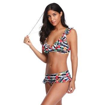 Sexy Women Bikinis Printed Swimwear Push-Up Padded Bra Beach Bikini Set Swimsuit Swimwear Ladies Bikini S-XL 40A04
