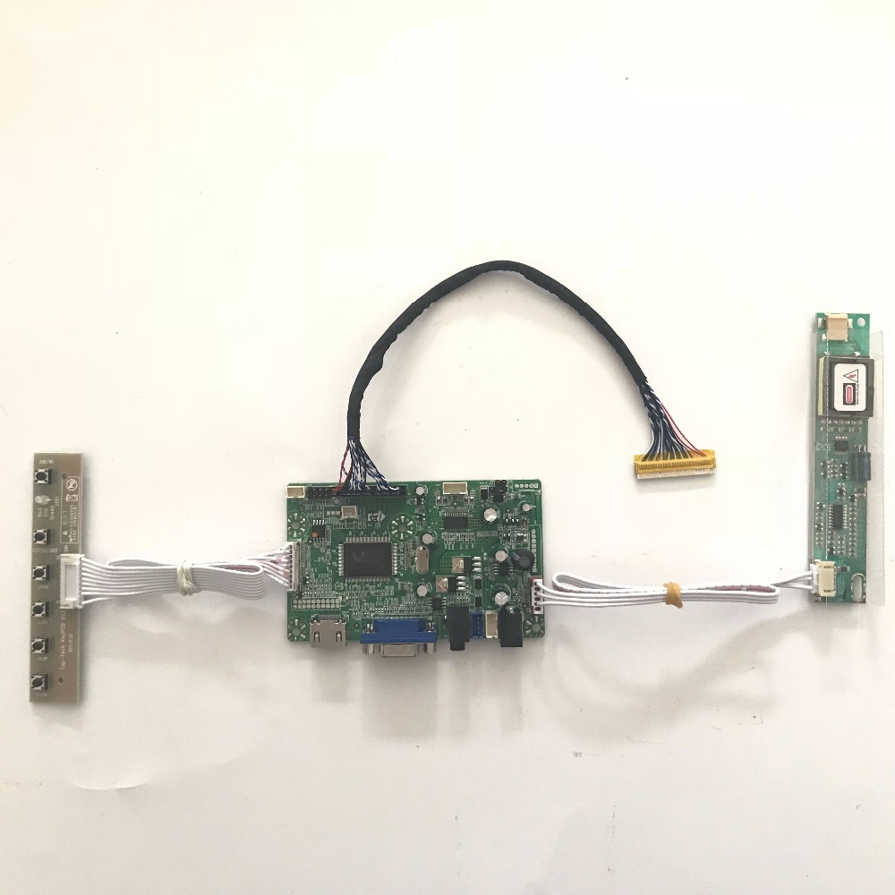 LVDS LCD screen diy kit raspberry pi with HDMI VGA AUDIO LCD Controller board for M190EG01 V2 1280x1024 4CCFL  Free shipping free shipping v m70a vga lcd lvds controller board kit for 15 4 inch b154pw01 b154pw02 1440x900 ccfl lcd screen