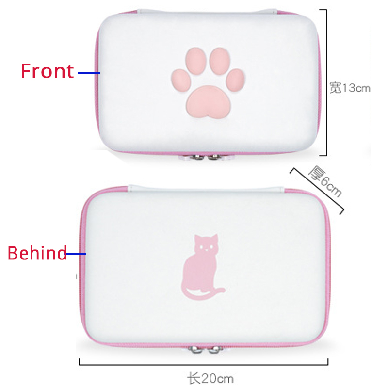 Image 5 - Portable Durable Hard Shell Case for Nintend Switch Controller Console Cat Travel Carrying Bag Case for NS Switch Accessories-in Bags from Consumer Electronics