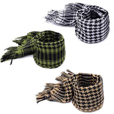 Hot New Military Arab Tactical Desert Scarf Army Shemagh KeffIyeh Shawl Scarve Neck Wrap