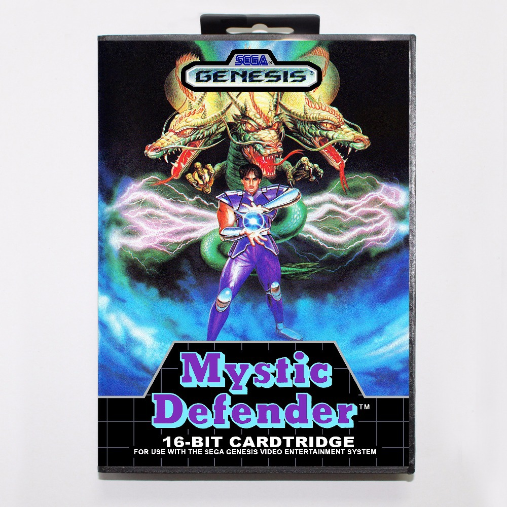 Mystic Defender Game Cartridge 16 bit MD Game Card With Retail Box For Sega Mega Drive For GenesisMystic Defender Game Cartridge 16 bit MD Game Card With Retail Box For Sega Mega Drive For Genesis