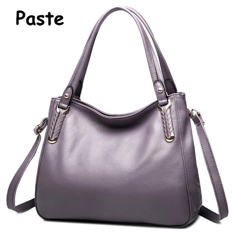 Hot Selling! Luxury Genuine Leather Women bag Summer New Simple Style Solid Cow Leather Shoulder Crossbody bags Casual Tote 2017 2017 special offer direct selling interior compartment genuine leather women shoulder bags hasp two solid soft tote solid bag