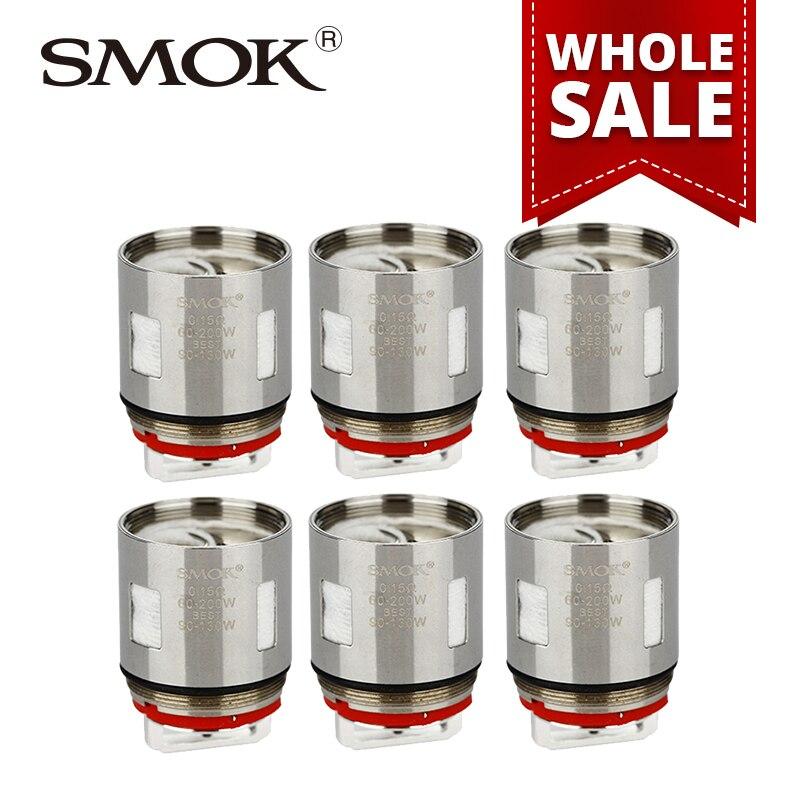 En gros 10/20/50 paquets SMOK TFV12 V12-X4 bobine tête 0.15ohm Quadruple bobines pour réservoir de TF-V12 atomiser 3 pcs/pack e-cigs accessoires