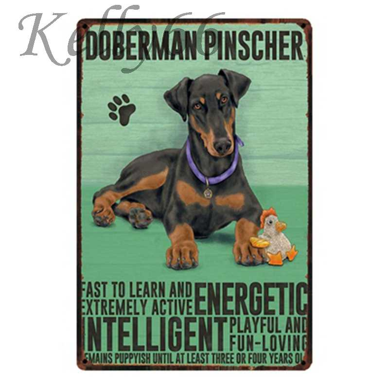 [ Kelly66 ] DOBERMAN PINSCHER Vintage Tin Sign Poster Home Decor Pub Mural  Painting 20*30 CM Size y-1605