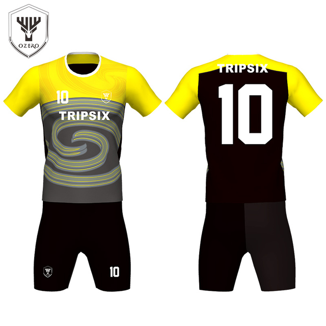custom black yellow soccer jersey kit 92fbce534