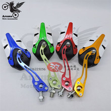 colorful motorbike rearview mirror 10mm 8mm universal motorcycle Professional modification accessories ATV moto side mirror blue