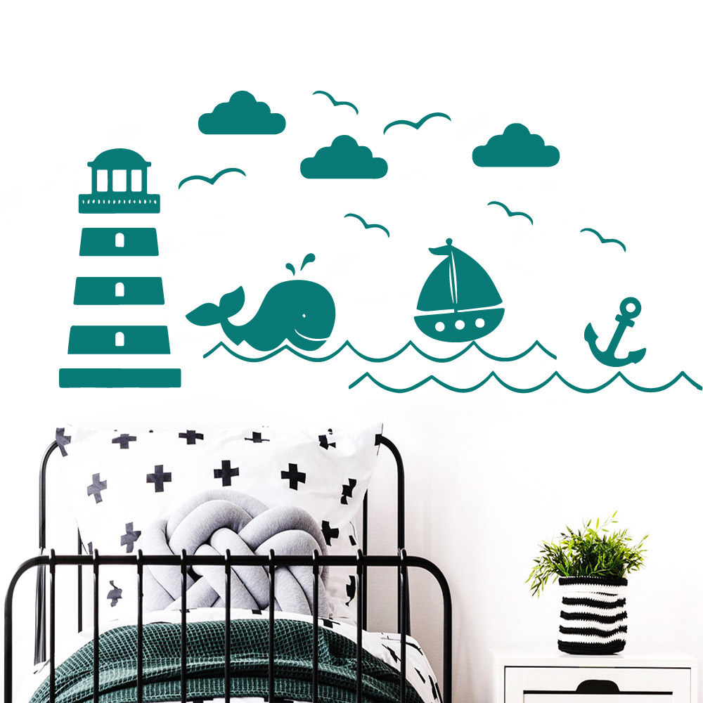Lovely landscape Self Adhesive Vinyl Waterproof Wall Art Decal For Baby 39 s Rooms Wall Decoration in Wall Stickers from Home amp Garden