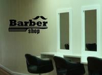 Wall Decal Sticker barber shop salon moustache haircut scissors hall