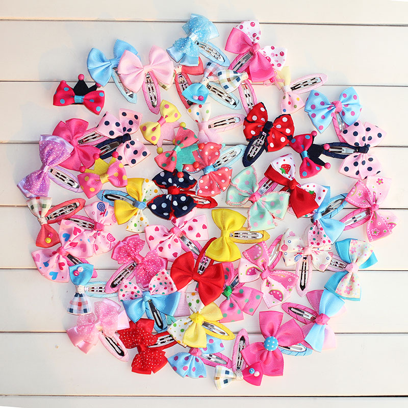 2018 hairpins Butterfly clamp kids hair clip headband Girls hair bow children Hair accessories wholesale flower crown 10 pcs/lot