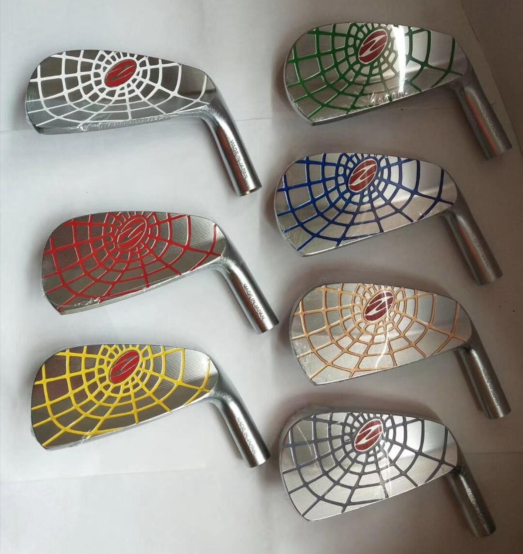 Fers de Golf Zodia araignée forgé tête de GOlf argent 7 pièces Zodia araignée fer ensemble Golf Clubs 4-9 P pas arbre GOLF fer tête