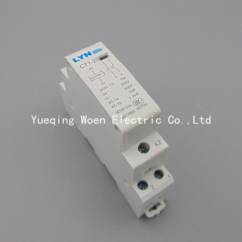compare prices on capacitor contactor online shopping buy low contactor ct1 25 16a switches ac contactor 220v 2no lyn mainland