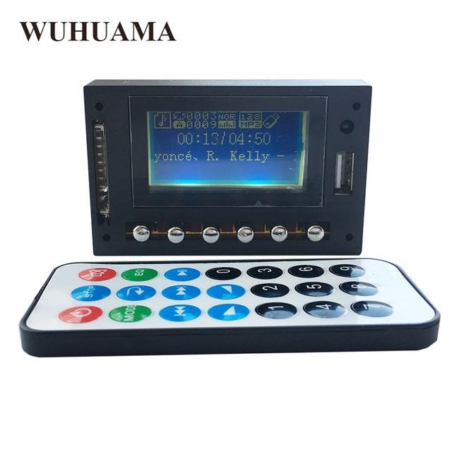 DC12V affichage LED bleu MP3 WAV WMA lecteur Module Bluetooth FM SD USB décodeur Audio carte avec enregistrement