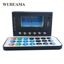 Синий светодиодный MP3 WAV WMA плеер, модуль, Bluetooth FM SD USB аудио декодер плата с записью