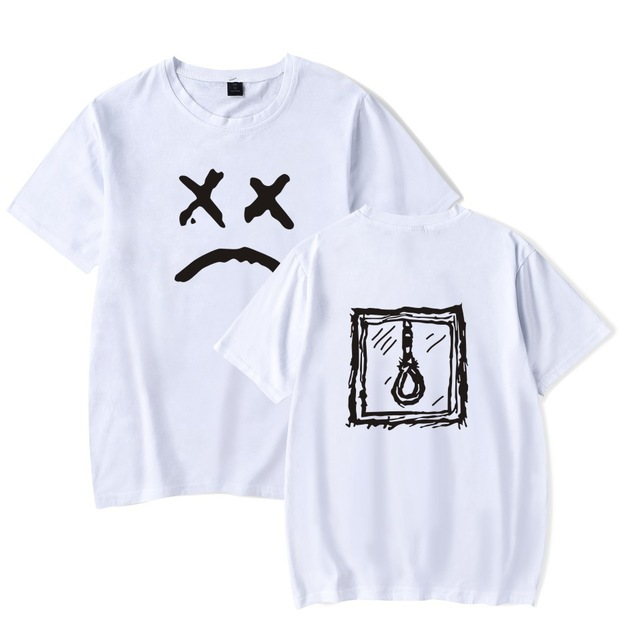 Lil Peep T Shirt Men Cotton Short Sleeve T-shirt O-neck High Quality Hip Hop Tshirt white  Black Summer Top plus 4xl tees TS0042