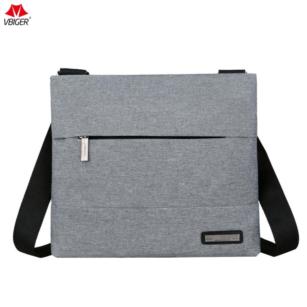 Vbiger Men's Shoulder Bag Nylon Business Cross-body Bags High Quality Casual Messenger Bag Portable Handbags For Male цена