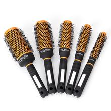Hairdressing Brushes Comb Curly Hair Comb Ceramic Roller High Temperature Resistant Anti-static Round Comb Hairbrush Barber