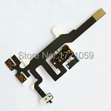 Audio Jack Volume Mute Silent Switch Button Flex Cable for iPhone 4s 4gs Earphone headphone Free