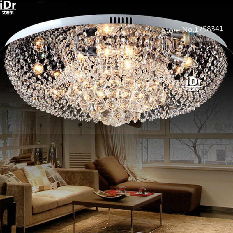 Бесплатная доставка новинка 2016 Современная Гостиная Чистая led хрустальные лампы для отелей потолочные высокие качественные люстры Роскошная лампа