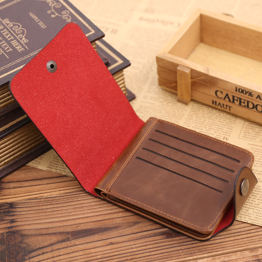 Men wallet Vintage Hollow Out Male Money Bag Hasp Leather Wallet Men Clutch Purse Slim Card Holder Men Wallets Coin Pocket 223 in Wallets from Luggage Bags