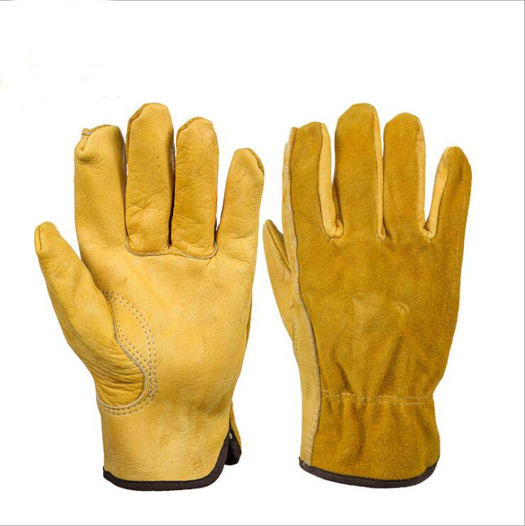 Work Gloves Cowhide Safety Garden Working Gloves Anti Impact Wear-resistant Welding /Motorcycle/Repair Protective Labor Gloves insulated gloves electric gloves 5kv anti live live work high pressure live work labor protection protective rubber gloves