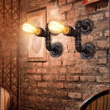 Американский Стиль Винтаж Водопровод Бра Кафе Магазин Трубы Свет Баров Настенный Светильник Спальня Лампа Бесплатная Доставка