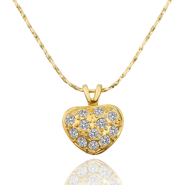 a42ec77c9c4c4 US $4.61 |New 2014 24K Gold Filled Heart Pendant Necklaces Cubic Zircon  Pendants Pendulum Bijoux Cameo Pingentes Colar Necklace Women N596-in  Pendant ...