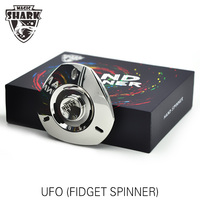 8 9 Minutes Rotation UFO Fidget Hand Spinner Metal Finger Stress Relief Spinning Tops Toys