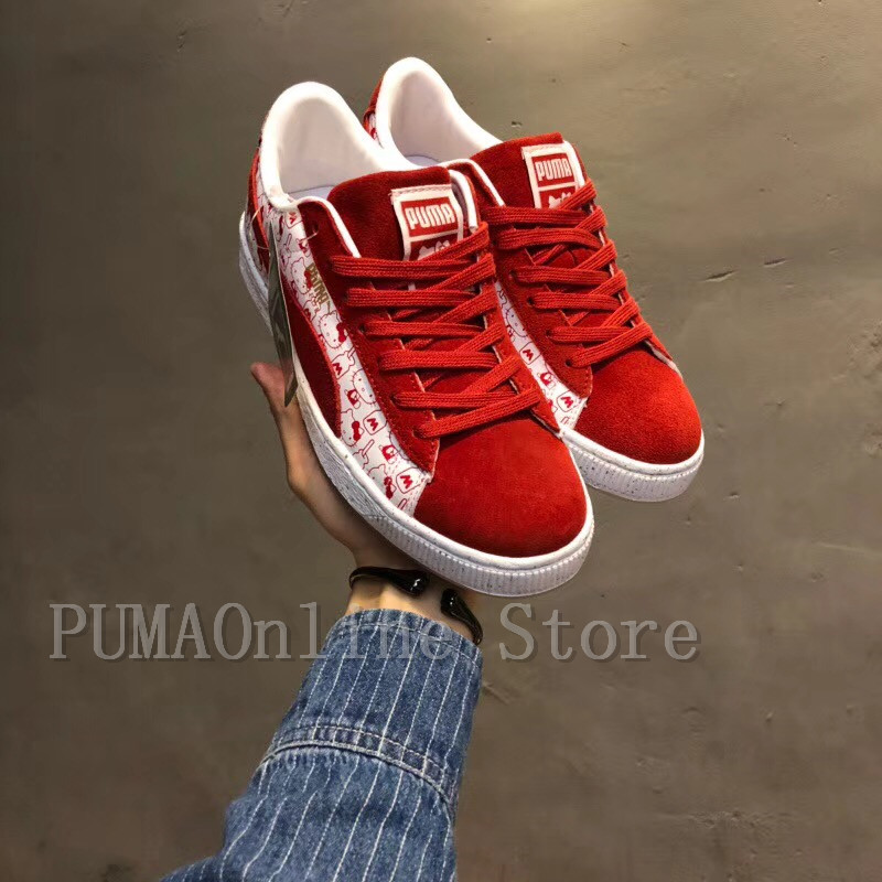 03bffbc8656d0e 2018 PUMA Women s x Hello Kitty Suede Classic Sneaker 50 Year Anniversary  Limited Edition Size35.5 40-in Badminton Shoes from Sports   Entertainment  on ...