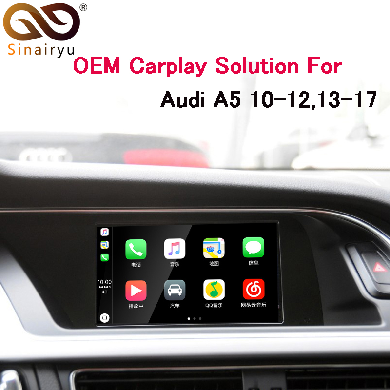 Sinairyu Voiture multimédia Aftermarket OEM Apple Carplay Android Auto A5 MMI 3g 3g + Smart Apple CarPlay Boîte IOS Airplay Mise À Niveau