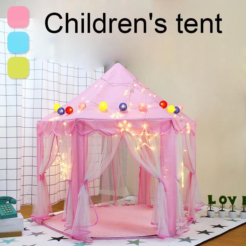 Tente pour enfants jouet Portable intérieur extérieur princesse jouer maison château hexagone AN88