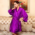 Silk Bathrobe Hot Sale Home Lounge Plus Size Silk Sleepwear Spring Summer Autumn Ladies Leisure Large Silk Robes Women Men Robes