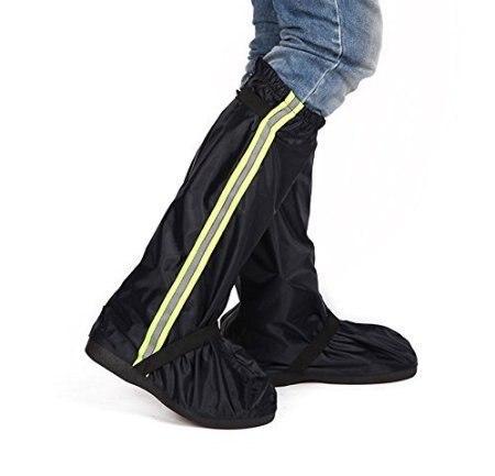 Fashion Black Men Women Thicken Oxford Cloth Long Boots Cover Zippered Nonslip Rainproof Flodable Reusable Rain Snow Shoes Cover