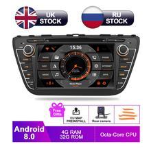 8 IPS Android 8.0 Car DVD For Suzuki SX4 S Cross 2014 2015 2016 2017 Auto Radio RDS Stereo GPS Navigation Audio Video Rear Cam 7 ips display android 8 0 car dvd for hyundai i30 elantra gt 2012 2013 2014 2015 2016 auto radio gps audio video backup camera