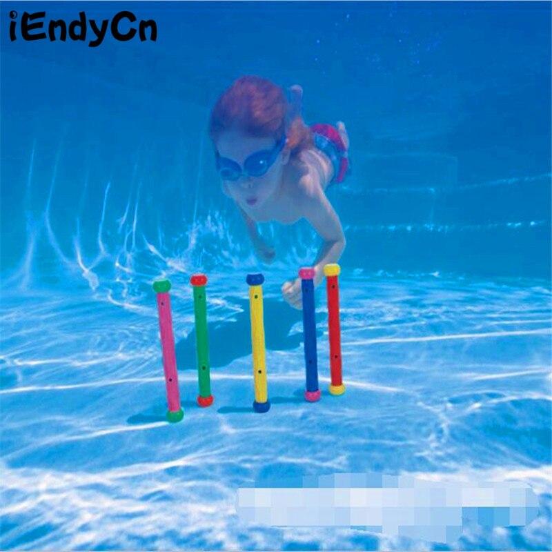 IEndyCn couleur bar de plongée Paddle jouets pour enfants fournitures de plongée équipement 5 combinaison chargement accessoires de piscine LMY916 (lot de 5)