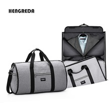 bbe18cc34c Unisex 2 in 1 Garment Bag Men Foldable Luggage Bag Travel Hanging Duffel  Totes Carry on