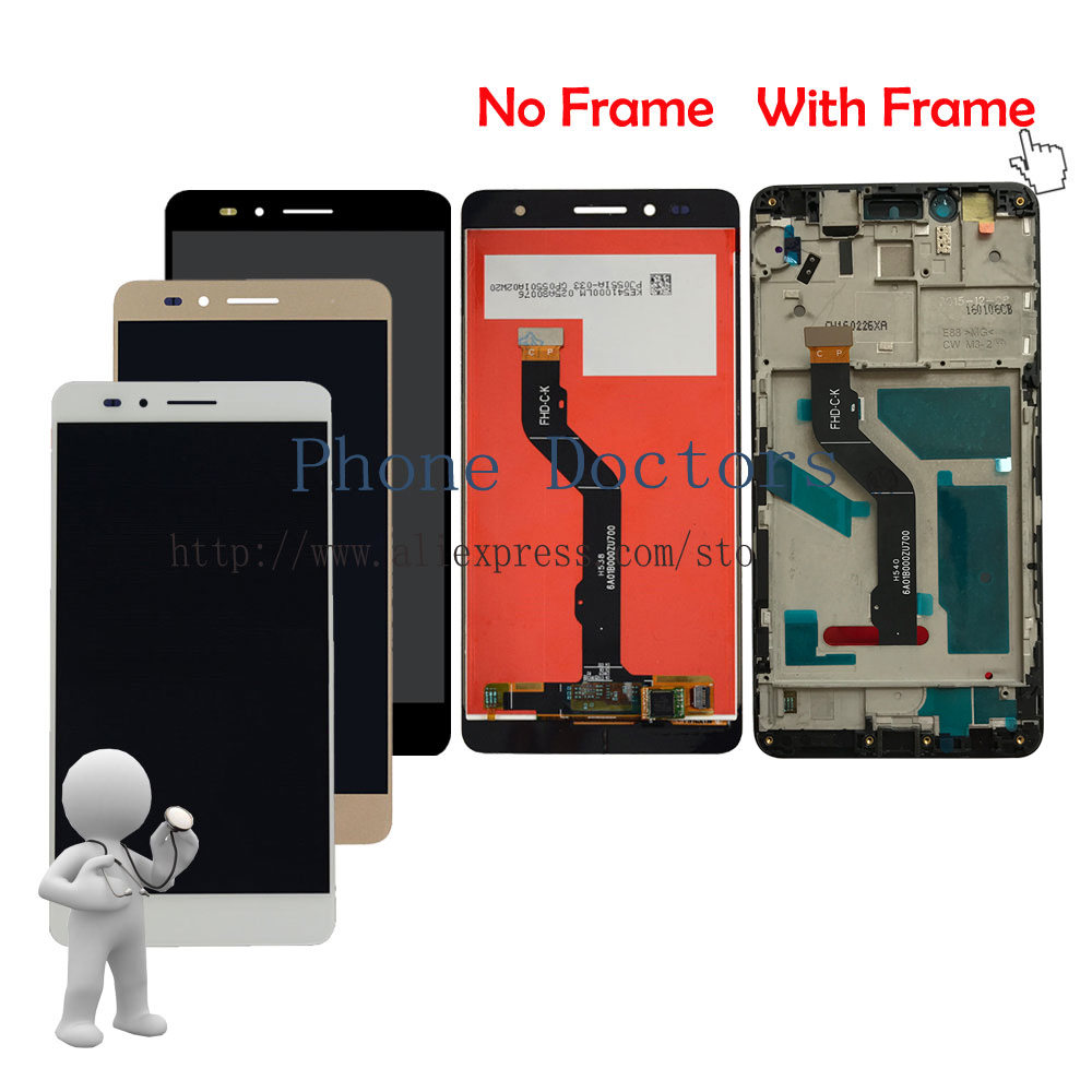 5.5'' Full LCD DIsplay +Touch Screen Digitizer Assembly +Frame Cover For Huawei Honor 5X KIW-L22 KIW-L23 KIW-L24 ;New ; Tracking