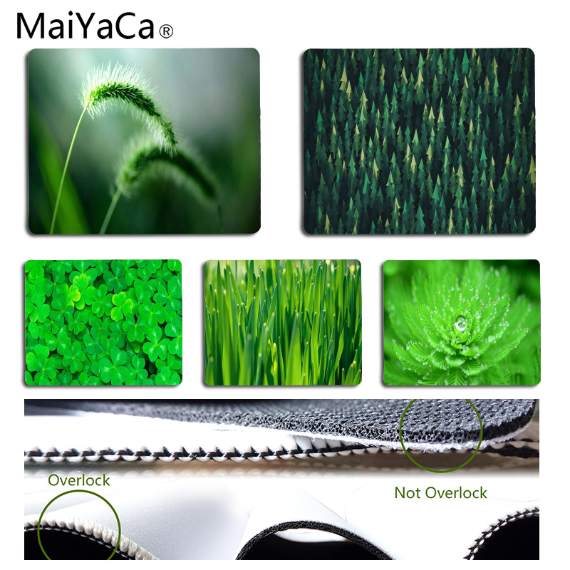 MaiYaCa Vintage Cool Green eye  mouse pad gamer play mats Size for 18x22cm 25x29cm Rubber Rectangle Mousemats