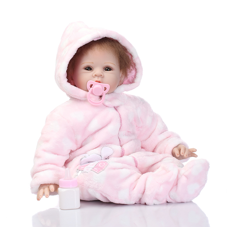55cm Soft silicone reborn baby dolls toys lifelike birthday present gifts newborn babies bedtime toy for girls collectable  doll soft silicone reborn baby dolls toys for girls lifelike birthday present gifts cute newborn boy babies bedtime play house toy