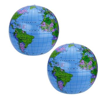 Inflatable Globe World Globe Beach Ball Globe for Party Bags PVC Material Earth Map Geography Kids Toy Birthdayparty gift favors