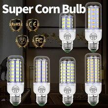 E27 LED Lamp GU10 Led SMD 5730 Corn Bulb 220V E14 24 36 48 56 69 72LEDs Home Chandelier Candle Light 3W 5W 7W 12W 15W 18W