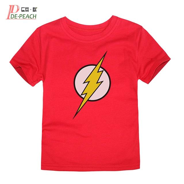 f9e669025ad6b Enfants flash Impression t shirt Nouvelle Marque de Coton Enfants Filles  Garçons blanc Bonbons Casual À