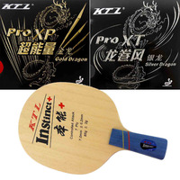KTL instinct+ Table Tennis Blade penhold short handle CS + Gold Dragon and Silver Dragon Rubber With Sponge for a Racket CS
