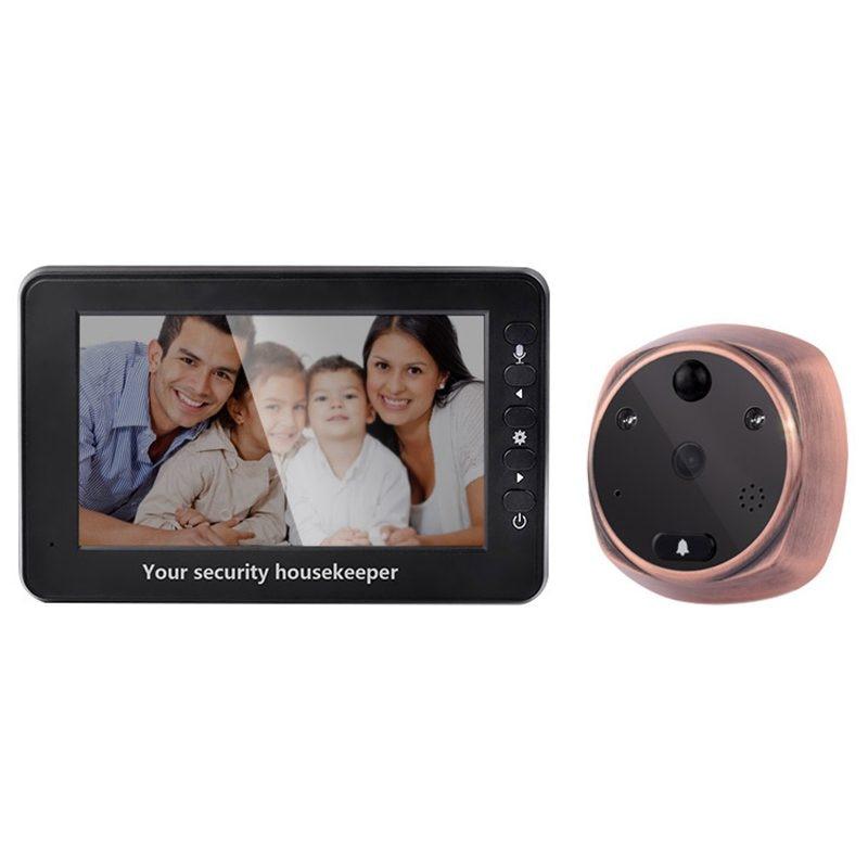 MOOL 4.3-inch TFT LCD digital intercom door peephole camera Infrared sensor doorbell camera футболка wearcraft premium slim fit printio тибетская vajrabhairava