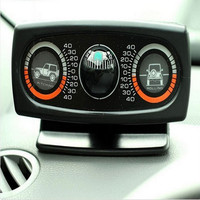EUROTYPER 3in1 Auto Pitching Rolling Meter Vehicle Gradiometer Vehicle Balance Navigating Car Compass Ball For SUV Off road