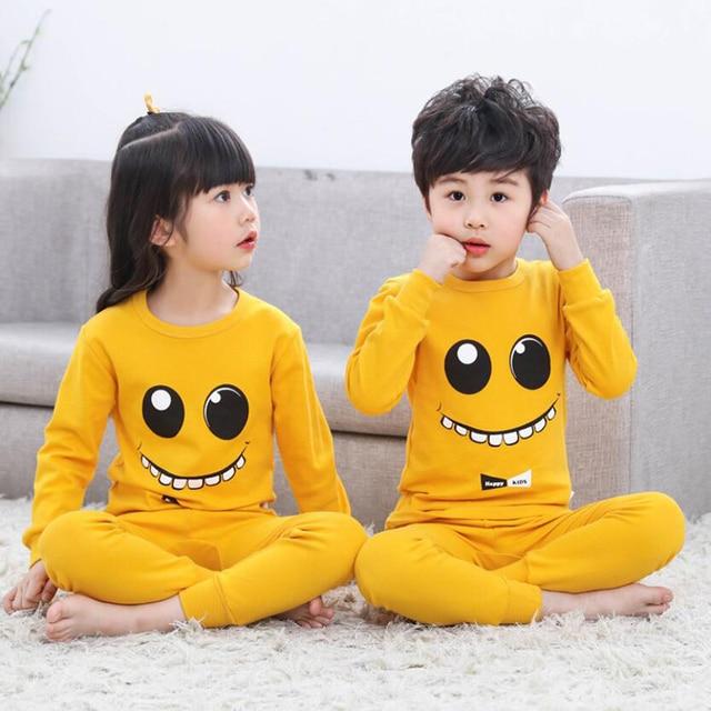 Kids Boys Sleepwear baby girl spring cotton sets Children Homewear Pajamas for Boy Pyjamas Kids Nightwear 2-13Y teenage clothes 3