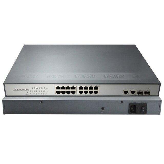 Intelligente Web Schalter 16 PoE 2 Gigabit Combo Elektrischen + SFP ...