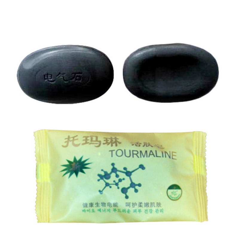Tourmaline Soap Bamboo Active Energy Soap Charcoal Concentrated Soap For Ance Face & Body Beauty Care Sterile Health Soap