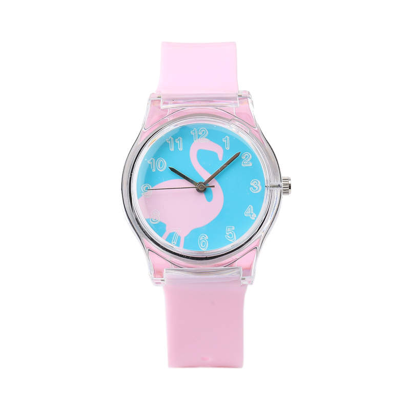 2018 Flamingo Mode Mini Women Girls Vattentät Jelly Sports Watch New Fashion Studenter Lady's Watch Female Watch