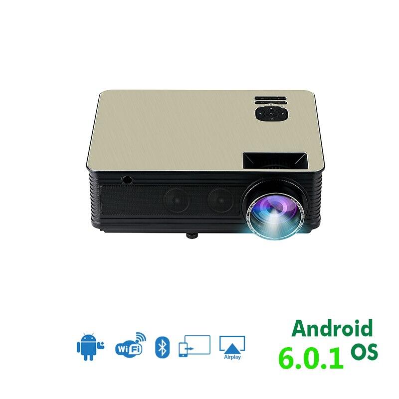 2019 Mode 1080 P Hd Projector, 5500 Lumen, Android 6.0 Wifi Bluetooth Optioneel, Perfect Home Theater Led Tv Video Projector Beamer Om Het Lichaamsgewicht Te Verminderen En Het Leven Te Verlengen